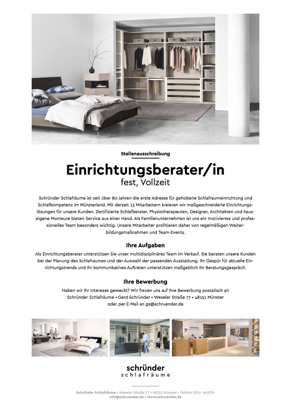 Schründer Münster einrichtungsberater/in, schründer schlafräume - mÖfa blog - der blog