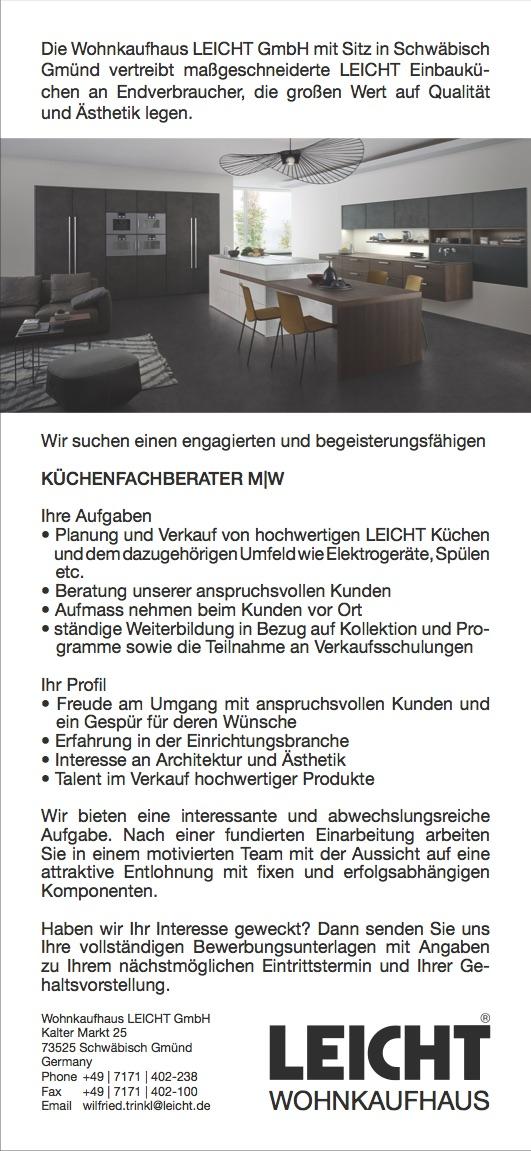 Kuchenfachberater M W Leicht Wohnkaufhaus Mofa Blog Der Blog