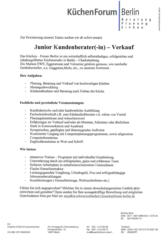 Küchenberater junior küchenberater in verkauf 171024 möfa der