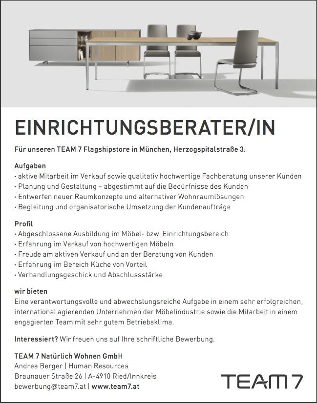 Einrichtungsberater/in in München 171214 - MÖFA BLOG - Der Blog der ...