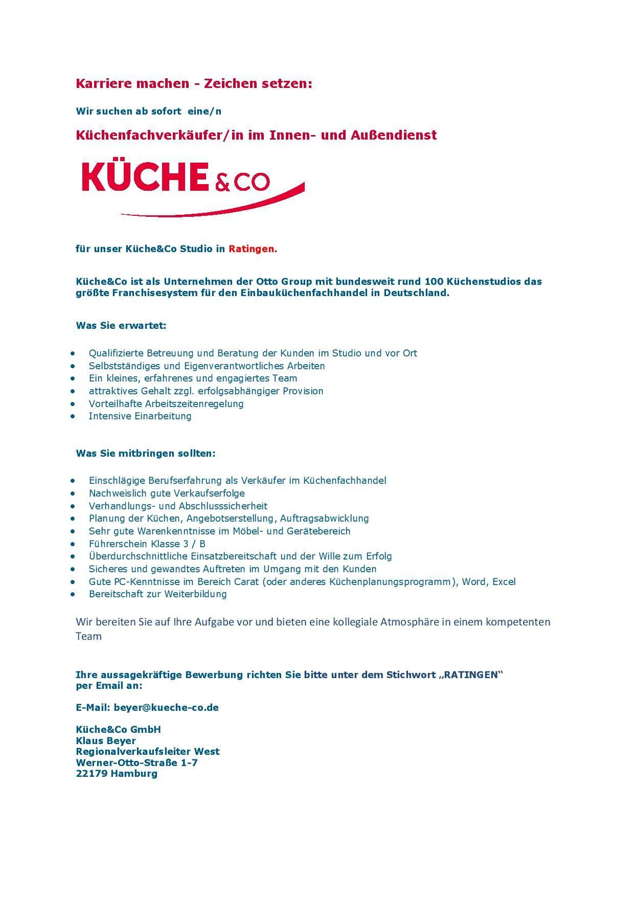 Küchenfachverkäufer/ in im Innen-und Außendienst 020518 - MÖFA BLOG ...