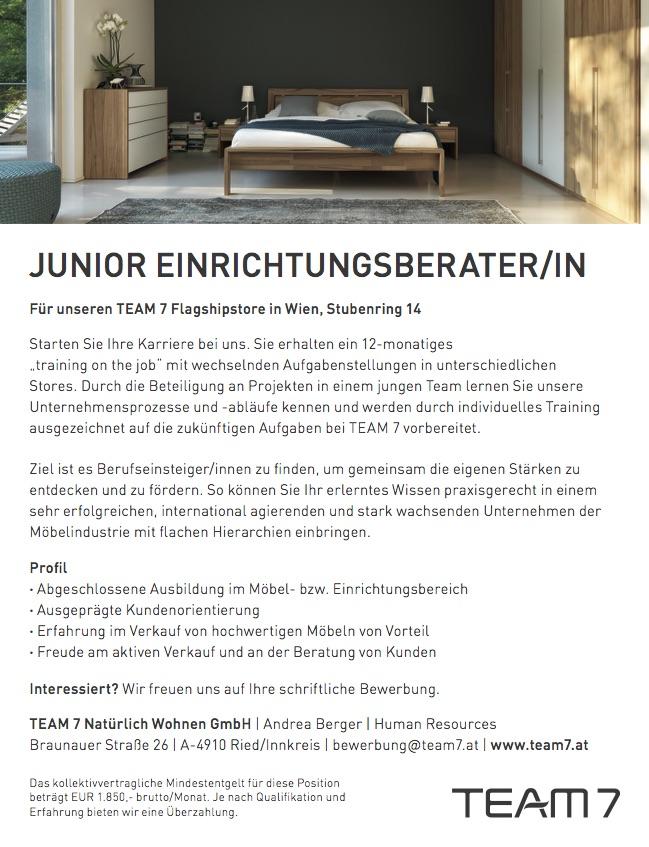 Junior Einrichtungsberater/ in 180702 - MÖFA BLOG - Der Blog der ...