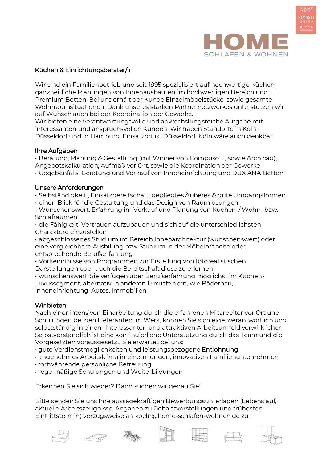 Küchen & Einrichtungsberater/in 290620